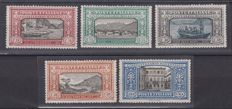 Italy, Kingdom, 1923 - Manzoni, five values, three of which are specimens with upside-down watermark - Sassone no.  S.28