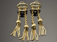 18 kt gold.  Earrings.  Weight 8.78 g