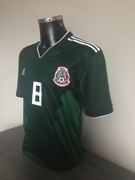 buy popular cae83 c188c Hirving Lozano signed Mexico home shirt 2017-2018 with ...
