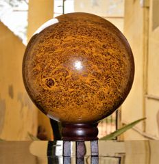 Natural Brown Mariam Jasper / Elephant Skin Jasper Sphere Ball  - 18 cm - 10166 gm