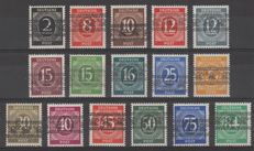 Germany, allied occupation 1948 - Freimarken, American and British zone with band overprint - Michel 51 I, 59 I, 61 I/68