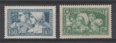 France 1928/1931 - 1920s-30s - Yvert 252 and 269