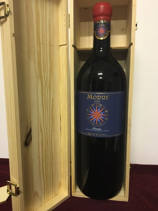 2008 Ruffino Modus, Toscana IGT - double magnum 3 litres, in original wooden case