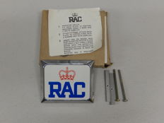 Original Boxed Vintage RAC Royal Automobile Club Chrome Car Badge Auto Emblem 1970 Unused
