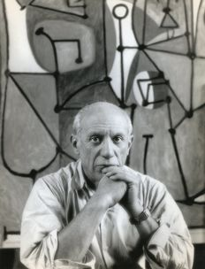 Herbert List (1903-1975) - Pablo Picasso, in his Studio in Paris, 1948