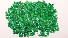Beautiful Emerald Rough Crystals  2-9 mm.  312 ct