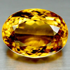 Golden yellow citrine - 13.29 ct - No reserve price.
