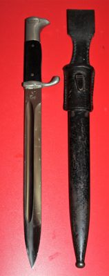 Parade model Bayonet/Dolch, long model Germany, with sheath and frog - in good condition, Maker: Carl Eickhorn,  Solingen, WW2