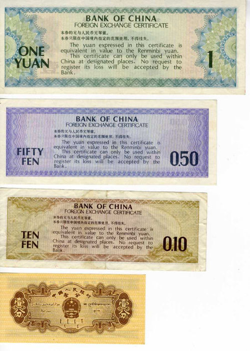China - collection old Chinese banknotes and other