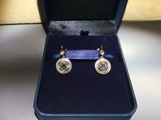 Art Deco earrings with sapphires and diamonds