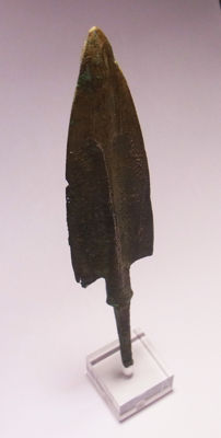 Ancient BRONZE ARROW / SPEAR - HEAD- 15.2 cm