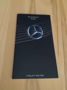 Mercedes Benz R129 price-list with calculator