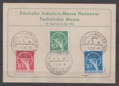 Berlin 1949 - Postcards with stamps for victims of currency depreciation - Michel 68/70
