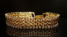 Kenneth Jay Lane 18kt gold plated Bracelet with crystals