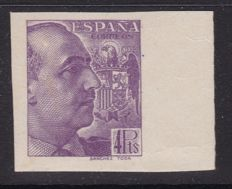 Spain 1939 - Franco, imprint Sanchez Toda, imperforated. Key value - Edifil 877s