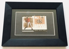 Variante Panini - Upperdeck - Michael Jordan - Card with authentic Piece of a Bat Used by the Legend in an Official Game.