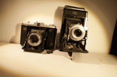 Two fine folding cameras: Zeiss Ikon Nettar 518/2 and Zeiss Ikon Nettar 518/16 made in the 1930s and 1940s
