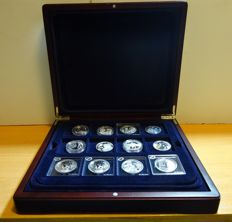 Belgium - 5 and 10 Euro 2004 to 2011 'Commemorative coins' - 12 coins - silver