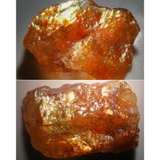 High Grade Flashy Sunstones - approx. 26.5x17x9 mm each - 45.94 ct (2)