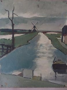 Cornelis Kloos - attributed to (1895-1976) -  Waterland