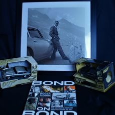Great James Bond Collection: 50 Years of Bond on Bond Limited Signed Edition By Sir Roger Moore. Framed Picture Of Sean Connery With DB5 & Lots More Below