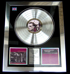 "U2 ""Unforgettable Fire"" platinum record award"