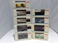 Märklin H0 - 44150/00773-09/48607 and various unnumbered - 9 various freight carriages (2372)