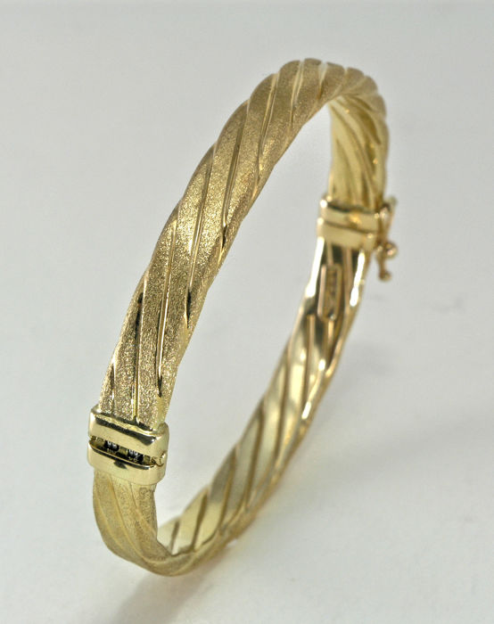 shop bangle fpx bracelet gold product twisted main polished italian image in