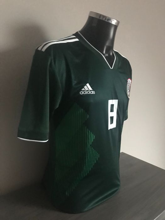 buy popular e2741 ff3d9 Hirving Lozano signed Mexico home shirt 2017-2018 with ...