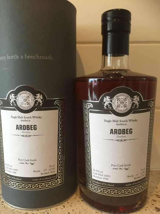 "Ardbeg 1998 - 2014, Malts of Scotland ""little Miss Piggy"""
