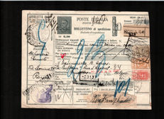 Italy - 1906/36 - 6 letters and postage stamps of this period