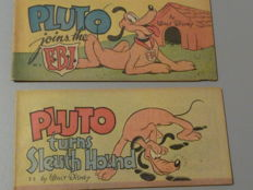 Disney, Walt - 2 Cheerios Advertising publications - Pluto joins the F.B.I + Pluto turns Sleuth Hound - 2xsc - 1st edition (1947)