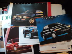 38 Ford brochures and 23 original factory photos and press reports etc.