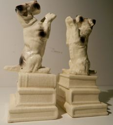 Pair of Fox Terrier Bookends