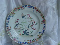A porcelain, Famille Rose, deep plate - China, 18th century