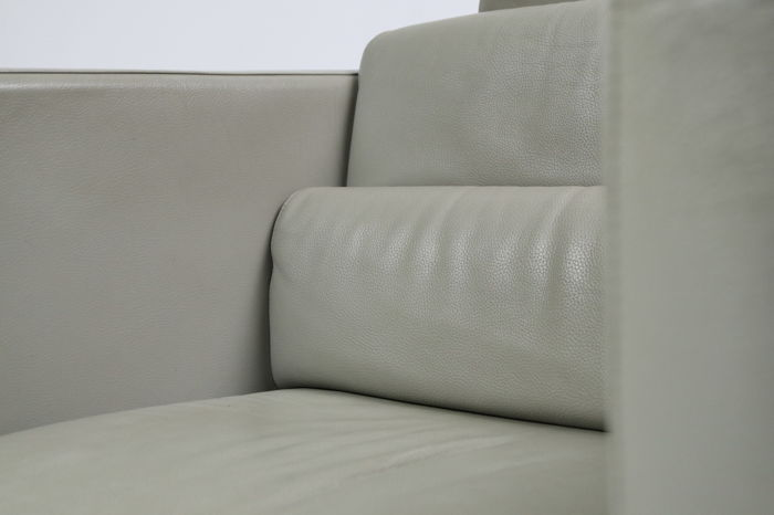 Christophe delcourt for roche bobois large leather armchair