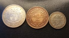 South Africa, 2½ shilling 1897, 1 shilling 1896, 1 penny 1898