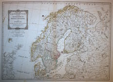 Sweden, Norway, Finland, Estonia, Danemark; Laurie & Whittle - A new map of the Northern States containing the Kingdoms of Sweden, Denmark and Norway - 1797