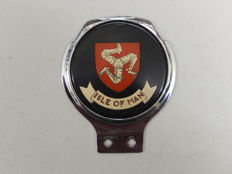 Vintage Racing IOM Isle of Man TT Motorbike Racing Badge Renamel Metal Car Badge Auto Emblem