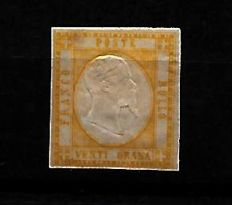 Province Naples 1861 - 20 gr., yellow, - Sass. No. 23