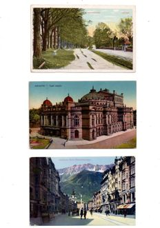 World: batch of 151 old and semi-modern postcards