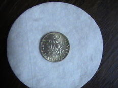 France - 50 Centimes 1897 'Semeuse' - silver
