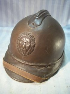 Belgian lightweight Cork Model 1915 officers helmet TOP condition very rare