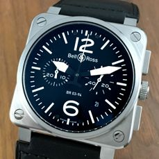 Bell & Ross BR03-94-S Chronograph  Automatic Men´s