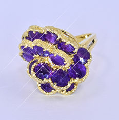 6.40 Ct Amethyst, 3D ring NO reserve price!