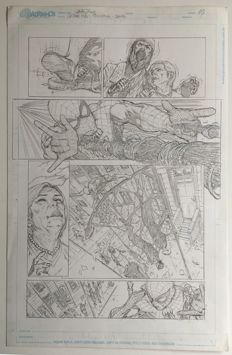 Original Art Sample Page By Netho Diaz  - Pencil - Spider-Man - Page 3 - (2015)