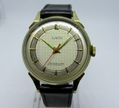 Laco men's watch, two-tone dial, circa 1960