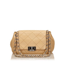 Chanel - Leather Reissue Choco Bar Flap Bag