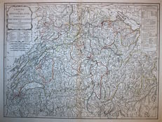 Switzerland; Laurie & Whittle - A new map of Switzerland divided into the Thirteen Cantons - 1797