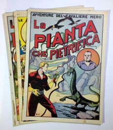 Le avventure del Cavaliere Nero - 3x albums - issues nos. 1, 4 and 7 (1948)